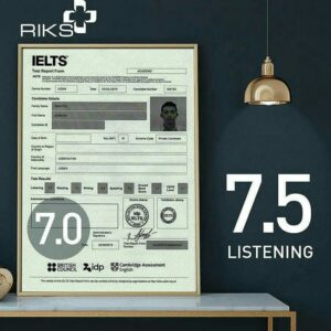 British ielts certification. IELTS Without Exam Band 7.0